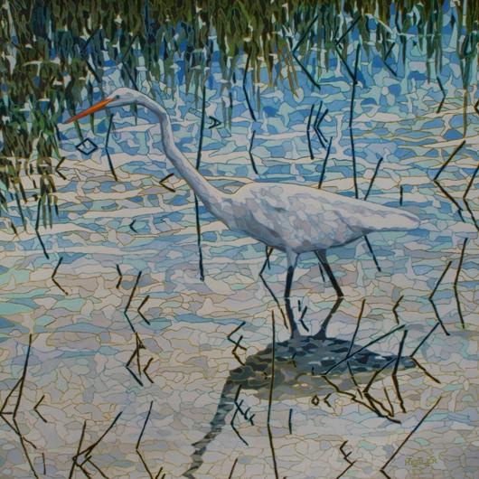 Wading-Egret