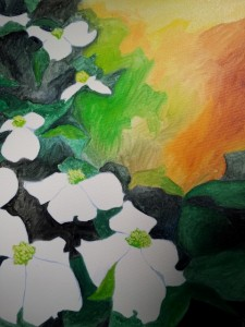 Dogwood Blossoms STILL IN PROGESS