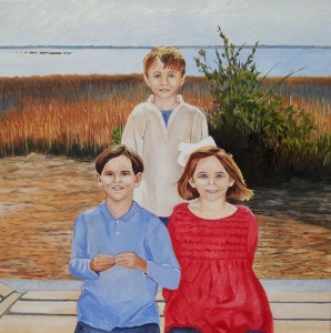 Oil Portrait of Children
