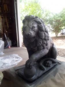 Lions beginning drybrush 8.11.14