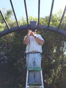 Dremeling on ladder