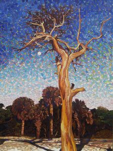Morning Moon- Hunting Island 30x40 oil on canvas